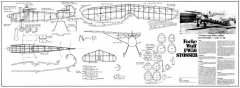 FW56 Stosser model airplane plan